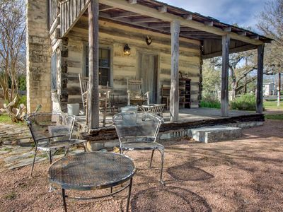 Photo for Riverview cabin w/ a lovely porch & lawn, close to it all!