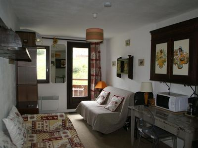 Photo for Surface area : about 18 m². Living room with bed-settee, single bed