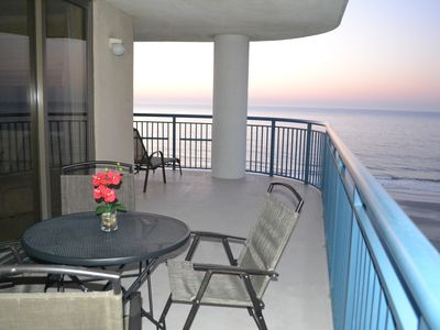 Photo for Direct Oceanfront Panoramic Wraparound Balcony!  Spectacular in/out