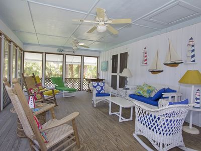 Photo for Large home, steps to the beach.  Family reunion heaven with 2 kitchens!