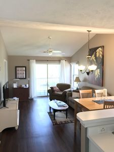 Photo for Book your summer beach escape!  Golf course view, pool/hot tub, close to beach