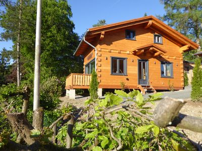 """Photo for 5 star log cabin with sauna + fireplace in the Alps - Chalet - Style, Wellness """"Hut"""""""