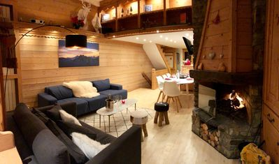 Photo for Renovated chalet overlooking Lake Tignes + Jacuzzi