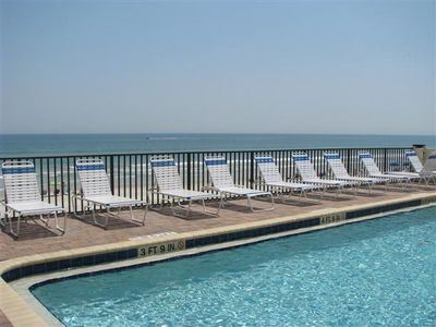 Large oceanfront heated pool.