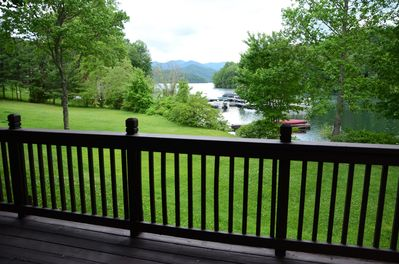 View from lower deck of Waters Edge Cabin
