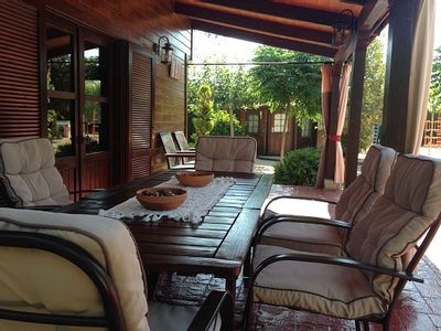 Photo for Self catering Cabaña de madera El Salse for 8 people