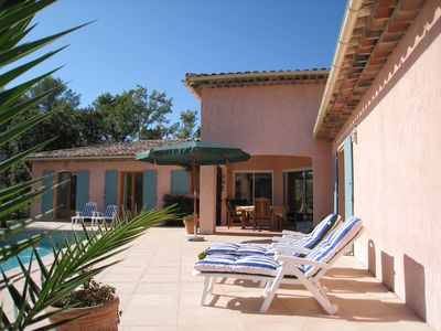 Photo for Secluded, luxury villa with pool near beautiful hill top village of Claviers
