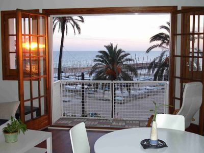 Photo for Beachfront apartment with spectacular sea views all amenities at hand