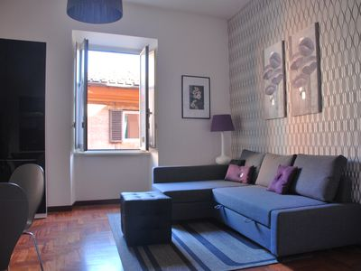 Photo for Elegant apartment in Trastevere in central Rome