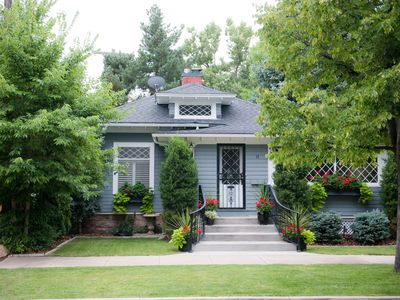 Photo for Beautiful Historic Old Northend Bungalow with amazing outdoor space