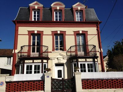 Photo for Beautiful villa in the heart cabourgeaise station, 200 m from the beach