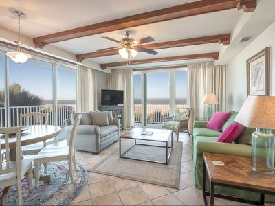 Beautifully Appointed Directly Oceanfront Corner-unit with Large Balcony Overlooking Ocean and Pools