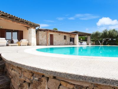 Photo for Large property with pool and sea views overlooking the marine park of Tavolara