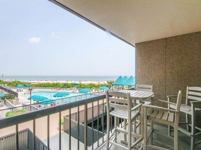 Photo for G210: 2BR+den Sea Colony Oceanfront condo! Private beach, pools & tennis!