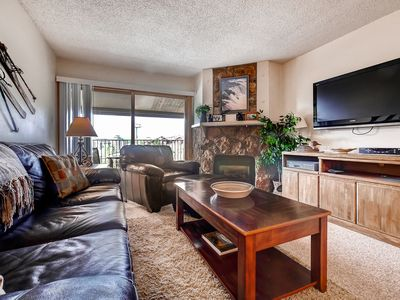 Photo for Delightful Slopeside Condo w/BBQ on Private Deck - Next to Base Area Activities