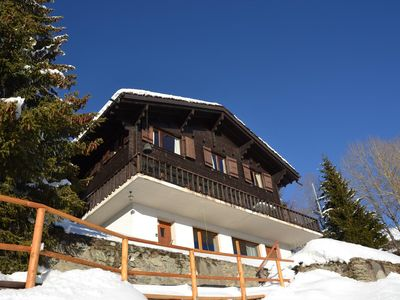 Photo for Outside : chalet for 7 people in Chandolin, balcony and garden -Inside : approx. 170 sqm, living wit