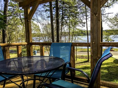 Photo for HIDEAWAY at HAWKINS!! East Texas LAKEFRONT Cabin in the Trees! NEW DECK '19
