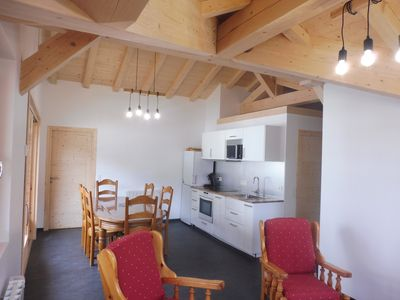 Photo for Charming apartment in Chalet in the village center, 3 bedrooms (5 / 6pers)