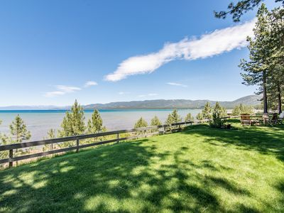 Photo for Charming 2BR Lakefront Cabin – Walk to Dining, 6 Minutes to Heavenly