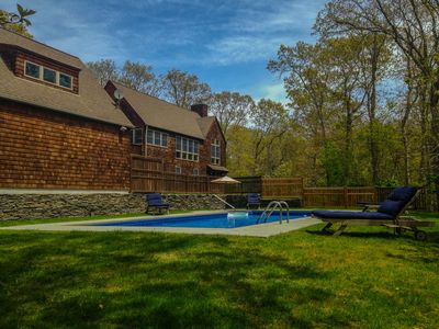May 2015, the pool gets full sun most of the day. New pofence and gate.