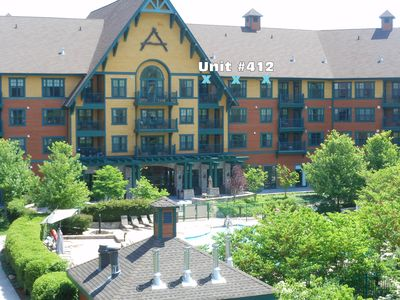 Photo for Wendy's 5 STAR 2 BR Mountain & Pool View Condo @ The Appalachian-Sleeps up to 8