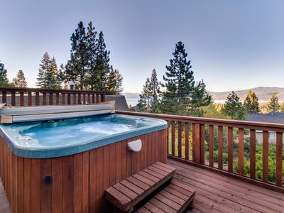 Photo for Amazing A-frame cabin with hot tub, 2 fireplaces, & more