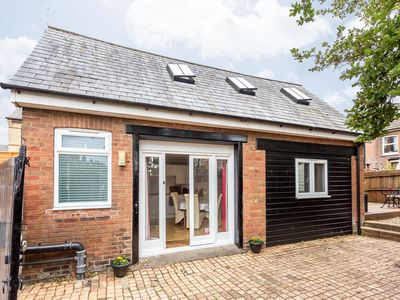 Photo for The Barn, cosy self contained holiday let for 2, with parking and large deck