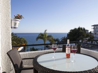 Photo for Frontline Two Bedrooms,Two Bath with Spectacular Sea View in the Parador Area.