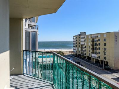 Photo for Great 1 Bedroom Side Ocean View Condo with Outdoor Pool Just Steps to the Beach!
