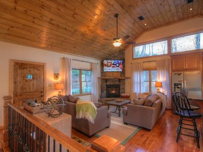 Photo for Mountain Chalet with Seasonal Views, Grill, Foosball, Close to Boone, Blowing Rock, & App Ski Mtn