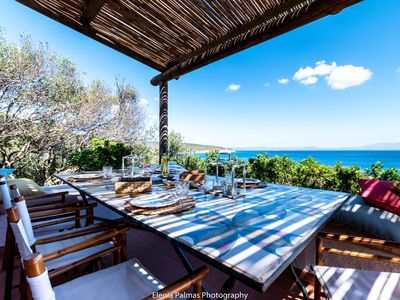 Photo for PANORAMIC VILLA WITH PRIVATE ACCESS TO THE SEA