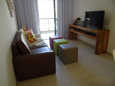 Photo for apt furnished next beach park, all furnished.
