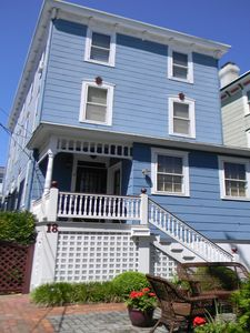 Photo for Beach Block Ground Floor Condo with 3 beds, 2 baths. Walk to Everything in Cape May. Park your car and forget about it!