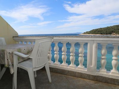 Photo for One bedroom apartment with terrace and sea view Milna, Hvar (A-12244-b)