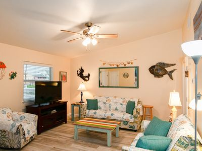Photo for Quiet & Relaxing Ground-Floor 2BR Sea Breeze Condo – 3 Minute Walk to Beach!