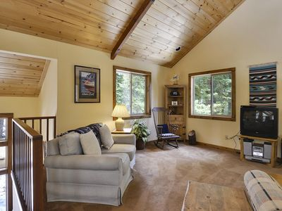 Photo for PET FRIENDLY! West Shore Summer Home. Close to Chamber Landing and Tahoe City. Only 10 minutes to Squaw and Alpine Meadows. Perfect for Beach Access in the Summer!