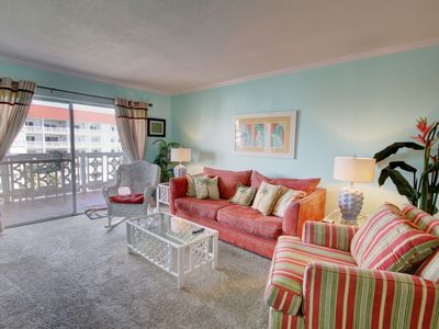 Photo for Gulf View Condo w/Balcony, Pool, Tennis, Private Beach Access, & More!