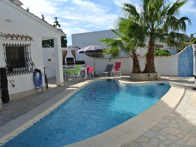 Photo for CHARMING AIR-CONDITIONED VILLA WITH PRIVATE POOL, GARDEN, NEAR THE SEA AND SHOPS