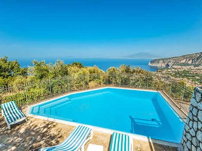 Photo for 1 bedroom hillside villa w/ great views & pool, short drive to Sorrento