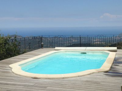 Photo for LUXURY VILLA exceptional panoramic view over the Réginu valley and the sea