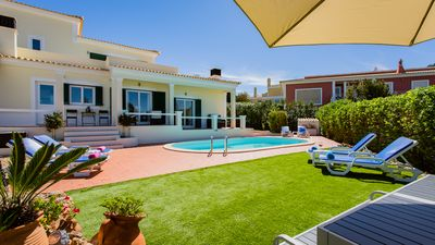 Photo for Contemporary style villa, with private pool, 5 mins drive to Carvoeiro + beach
