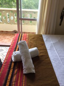Photo for African boho apt with balcony, 10 min to the beach