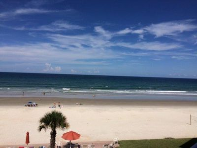 Photo for Amazing oceanfront views await from this fourth floor three bedroom three bathroom oceanfront condo.