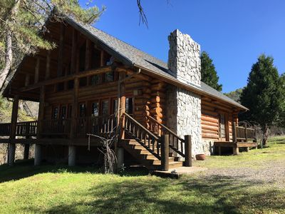 Photo for Authentic Log Cabin on 4,000 acre ranch in Yosemite California Sierra foothills