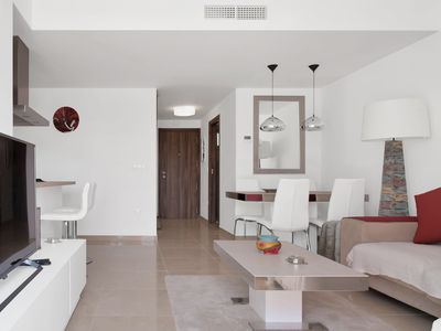 Photo for Stunning two Bedroom Apartment with Communal Pool and large Roof Solarium