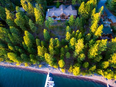 Photo for Whitefish Lakefront home!! 197 ft on WF lake