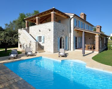 Photo for Beautiful villa, private pool, seaview, olive garden (sleeps 7-8)