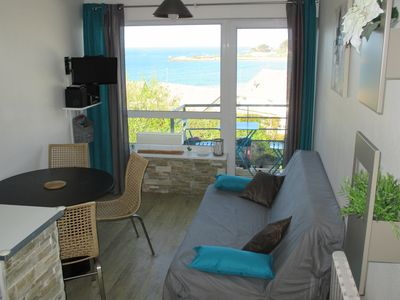Photo for Duplex with sea view unless 100 meters of the beach