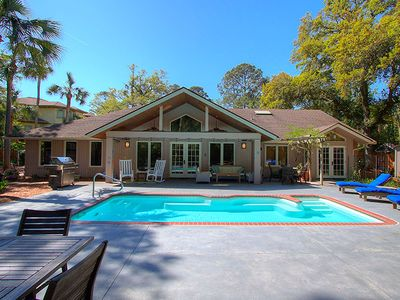 Photo for New to VRBO! Renovated Beach Home w/ Private Pool, Short Walk to Beach