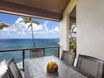 Photo for Poipu Makai #C3 - OCEAN FRONT views - Close to Poipu Beach!